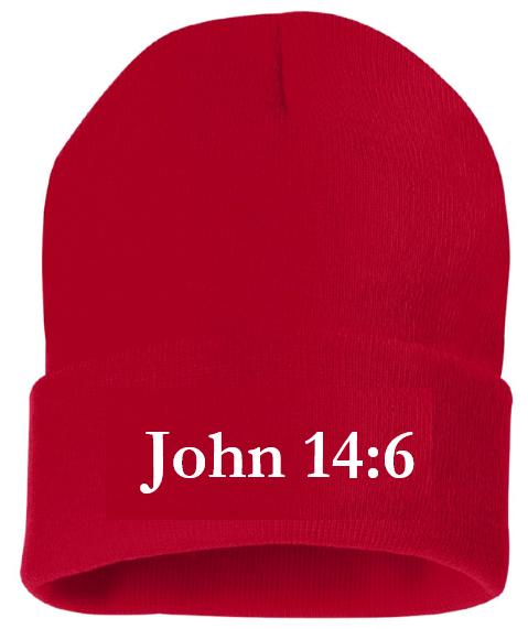 John 14:6 - Toque - RED