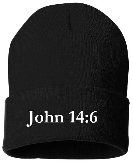 John 14:6 - Toque - BLACK